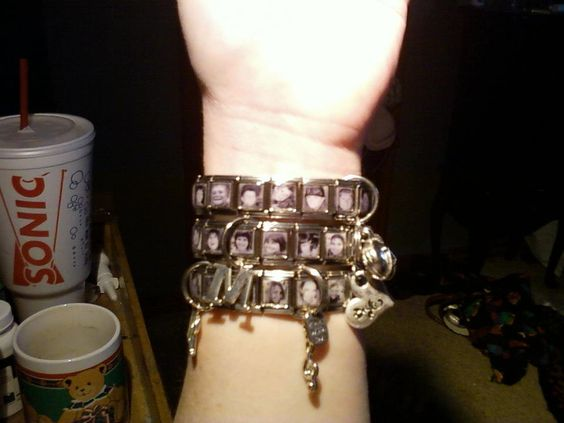 the photo charm bracelets I make.