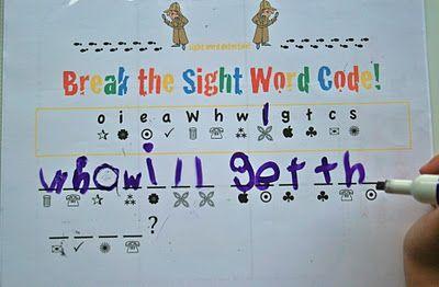 sight word code