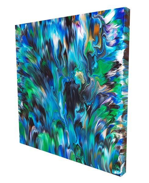 Peacock 20 X 20 In In 2020 Art Art Therapy Projects Abstract