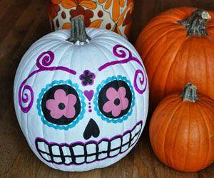Dis de Los muertos pumpkin