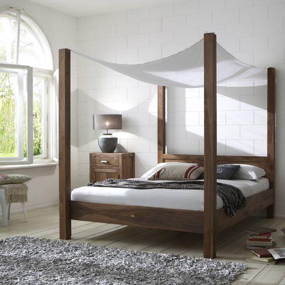 #Hartholz aus #Indien - die Serie Wima wurde aus massivem Sheeshamholz hergestellt. #Schlafzimmer #Sheesham findet ihr unter www.moebel-ideal.de