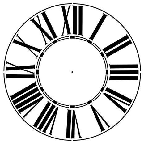 Thick Roman Numeral 12 46 Clockface Wall Stencil Choice Of Sizes Clock Stencils Roman Numeral Clock Face Clock Template