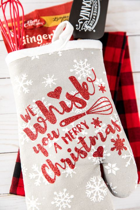Holiday Baking Oven Mitt Gift Oven Mitts Gift Family Holiday Gifts Christmas Vinyl