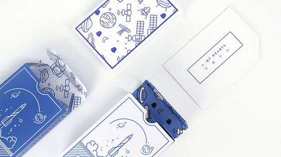 Playful deck of cards designed by Ioana J