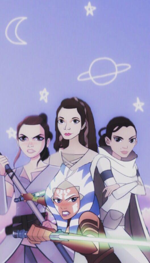 Star Wars Aesthetic Wallpaper Padme Amidala Ahsoka Tank Rey Princess Leia Star Wars Wallpaper Star Wars Characters Star Wars Humor