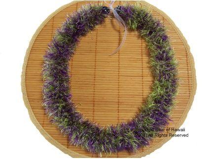 Feather yarn lei