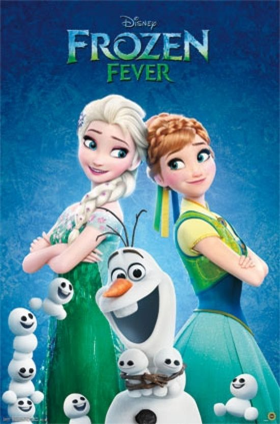 Frozen Fever One Sheet Poster Print 24 X 36 Frozen Fever Movie Frozen Fever 2015 Frozen Film