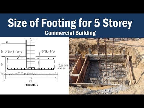Size Of Footing For 5 Storey Building With Steel Reinforcement Details Youtube In 2020 Building House Plans Reinforcement