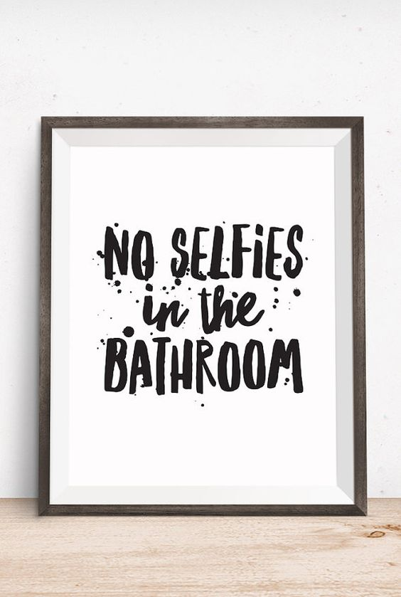 Toilets happy and bathroom printable on pinterest for Funny words for bathroom