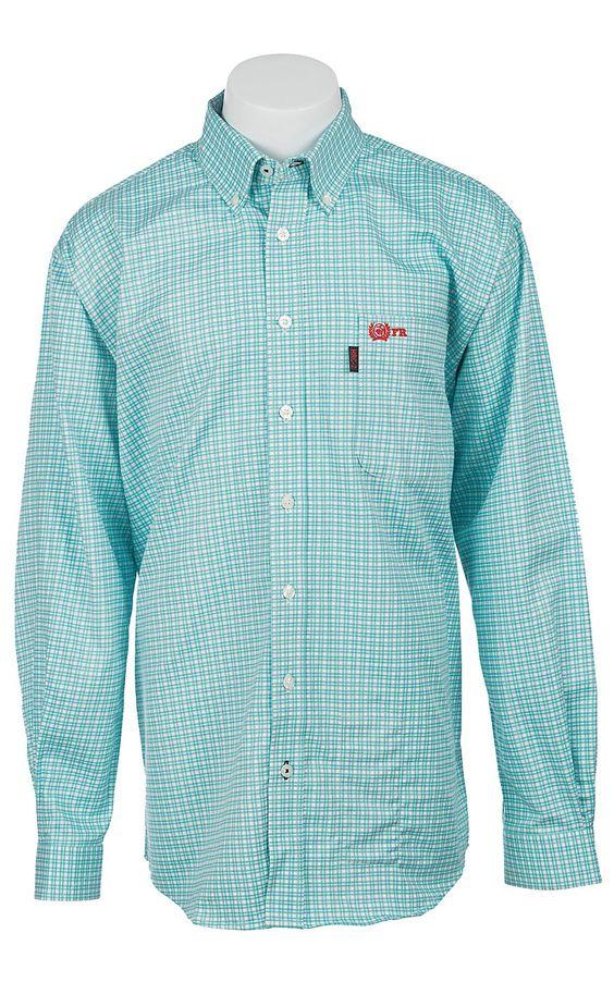 Cinch Men 39 S Flame Resistant Plaid Workshirt W3001006tur