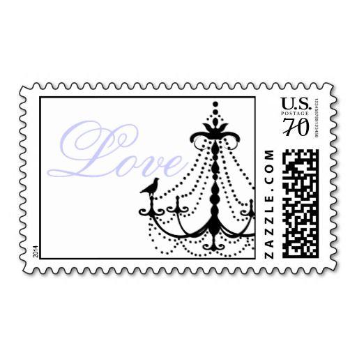 Chandelier Wedding Postage Stamps