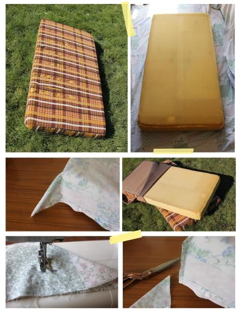 My little vintage caravan project ~ take a seat   How to make fitted seat covers for your caravan