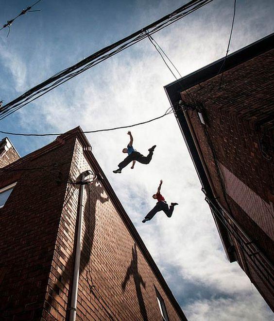 """Très beau travail photographique sur lethèmedu """"Parkour"""", """"Free Running"""" ou """"Yamakasi"""" par Andy Day depuis 2003.."""
