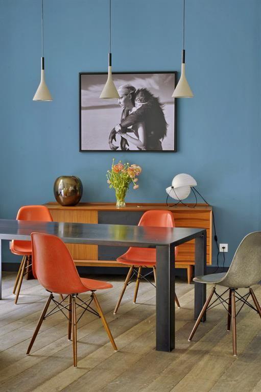 Rideau de salle a manger nuances de orange photo for Salle a manger orange