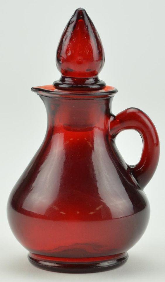 "vintage avon products | Vintage Avon Ruby Red Bath Foam Bottle - 5"" Tall  I still have my mom's."