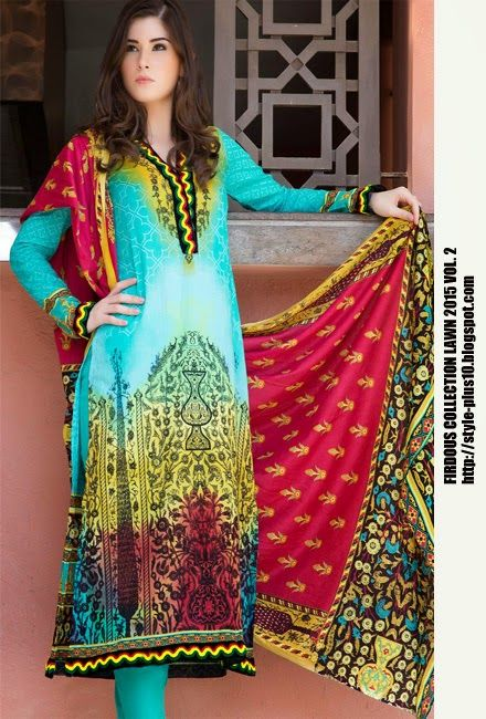 Design 19252 From Collection Lawn 2015 Vol.2 By Firdous