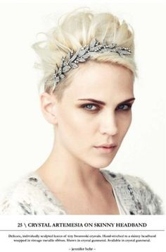 Awesome glam short hair - Jennifer Behr 2010 Holiday Hair Accessories