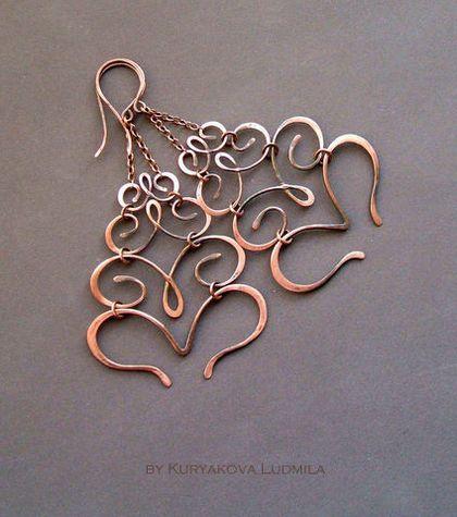 copper earrings....SO COOL