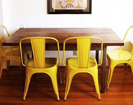 yellow metal chairs | chairs & stools - metal & wood | pinterest