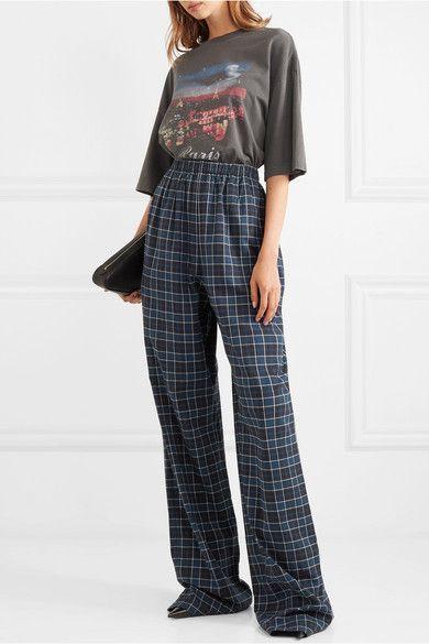Balenciaga | Checked cotton-flannel pants | NET-A-PORTER.COM