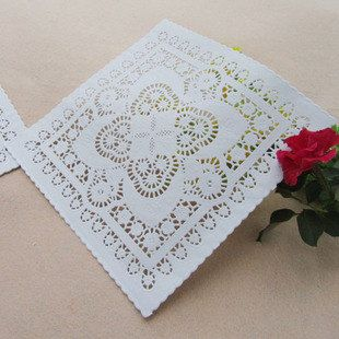10 White Square Paper Doily  12pcs by muimuichow on Etsy, $4.79