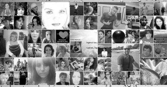 Colaj alb-negru fotografie cu 50 de prieteni de pe Facebook. Creează-ta!