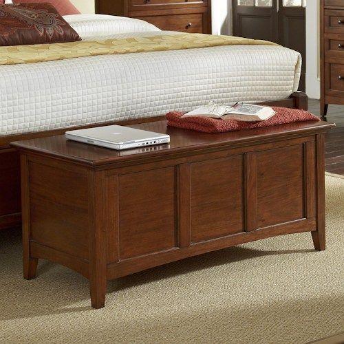 Aamerica Westlake Transitional Cedar Lined Storage Trunk Storage Bench Bedroom Cherry Bedroom Furniture Furniture Design Modern
