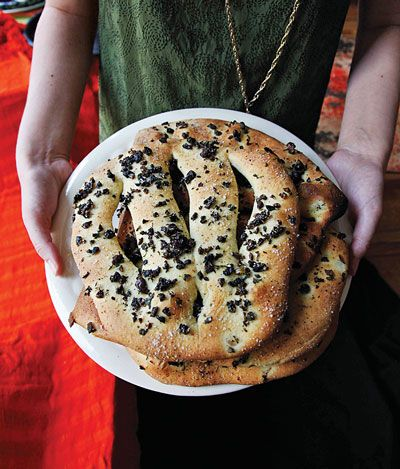 olives brushing provence flat bread recipe herbs breads leaves olive ...