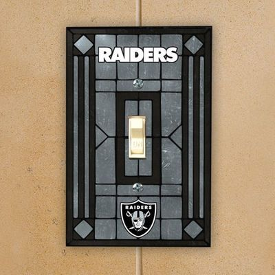 Oakland Raiders Gray Art-Glass Switch Plate Cover | JCPenney - Sports Fan Shop