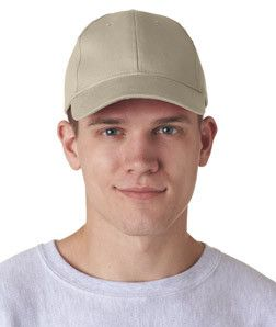 8110 UltraClubå¨ Classic Cut Brushed Cotton Twill Constructed Cap Khaki