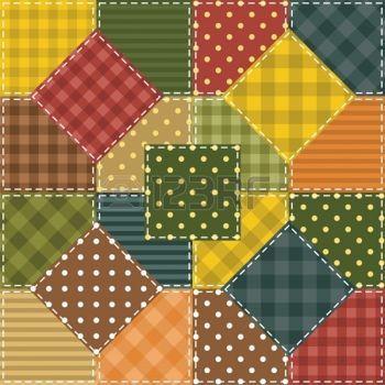 Farklı desenler fotoğraf ile patchwork arka plan
