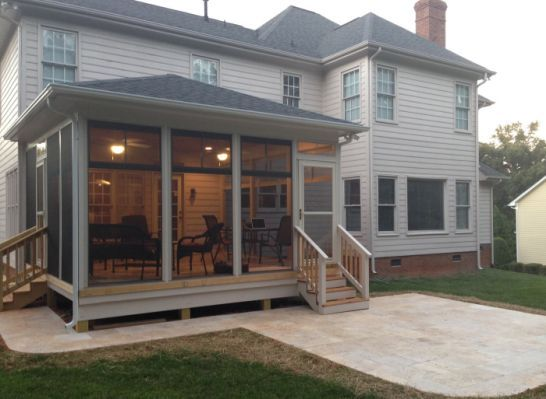 Adding Screen Porch To Ranch House Porch Design Screened Porch