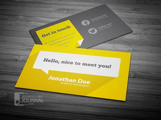 20 free business card templates | Graphic design | Creative Bloq