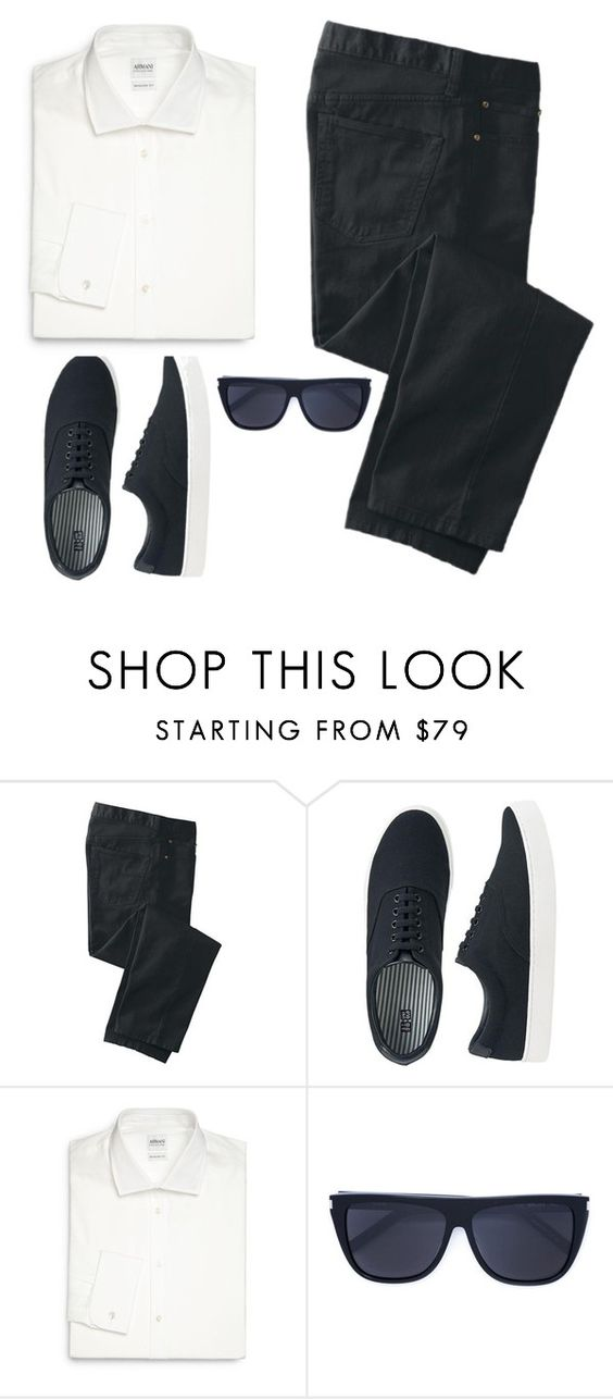 """""""Untitled #120"""" by katty-kat-537 ❤ liked on Polyvore featuring TravelSmith, Uniqlo, Armani Collezioni, Yves Saint Laurent, men's fashion, menswear, darkdenim and menswearessential"""