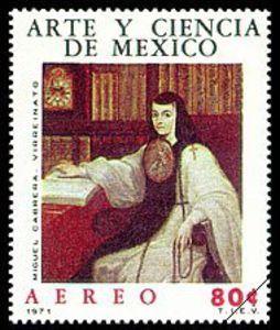 Resultado de imagem para selo de Juana Inés de la Cruz