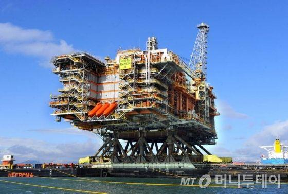 현대중공업이 2012년 수주한 '노스랜킨(North Rankin)2'플랫폼의 모습. /사진제공=현대중공업