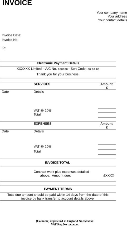 Contractor Invoice Template | Templates&Forms | Pinterest