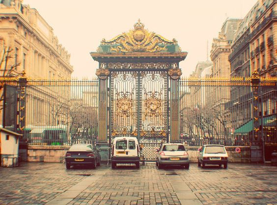 Paris Photo Gold French Gate Fine Art Photography by happeemonkee, $30.00
