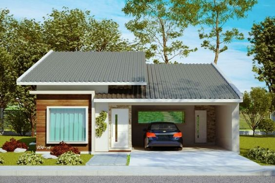 Casa de 3 quartos e garagem