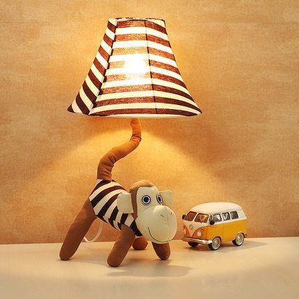 Kreative cartoon kunst lampe schlafzimmer nachttischlampen kinder