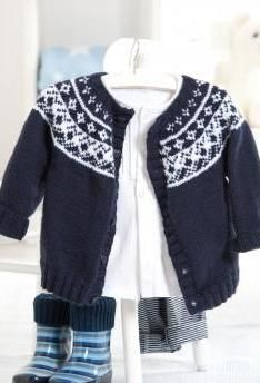 Baby Fair Isle Yoke Cardigan - free BEBE - BABY Pinterest Sweater patte...