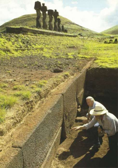 Megalithic walls found on Easter Island which resemble the cyclopean walls found…