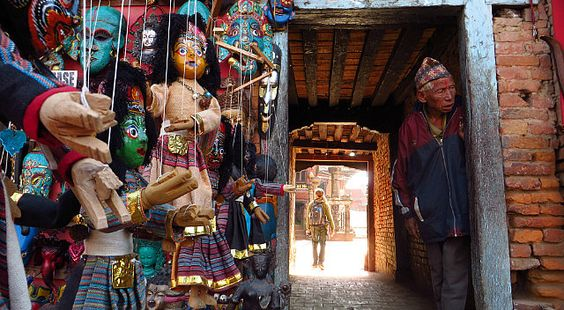 """photo Ewa"" by TravelPod blogger marco-2010 from the entry ""Bhaktapur et dernier jour à Katmandou"" on Monday, January 20, 2014 in Bhaktapur, Nepal"