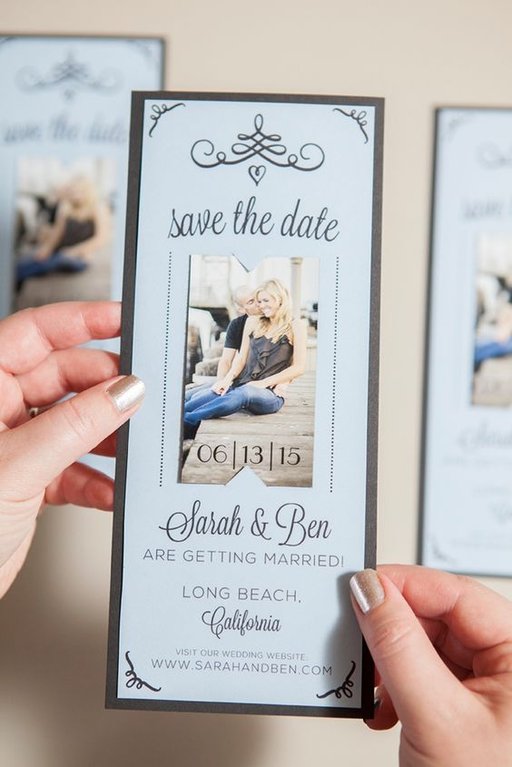 Order a magnetic Save the Date or purchase a magnet roll and glue to the backs of your Save the Date cardstock