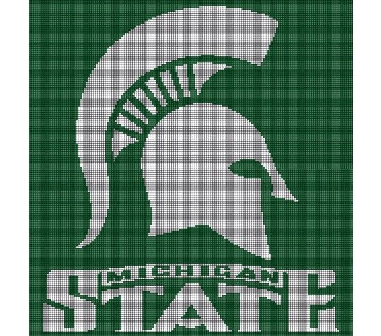 Crochet Pattern Excel : Michigan State Spartans Crochet Pattern Afghan Graph, USD5 ...