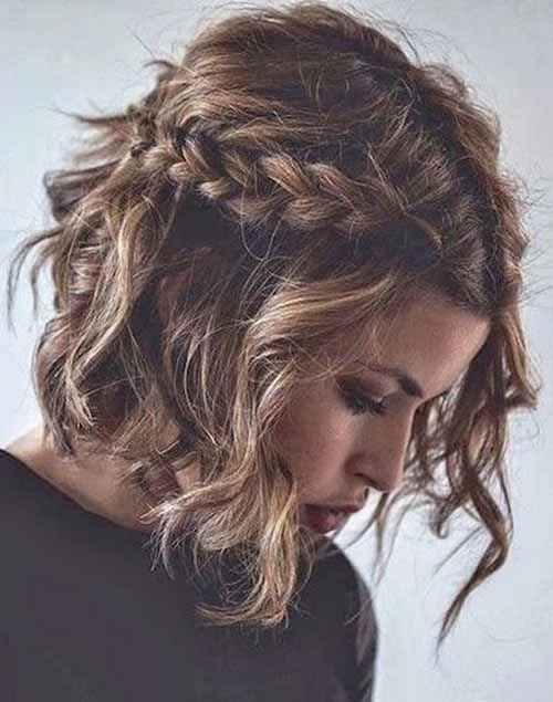 Short Hairstyles Are Convenient In Every Day Wear But What About Prom Your Prom Hairstyles For Short Hair Messy Braided Hairstyles Medium Length Hair Styles