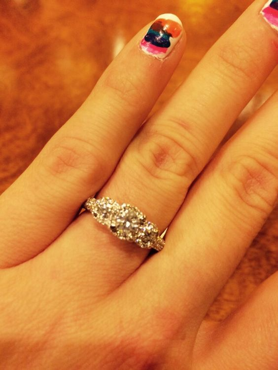 My engagement ring from Kay Jewelers!!! ❤️❤️