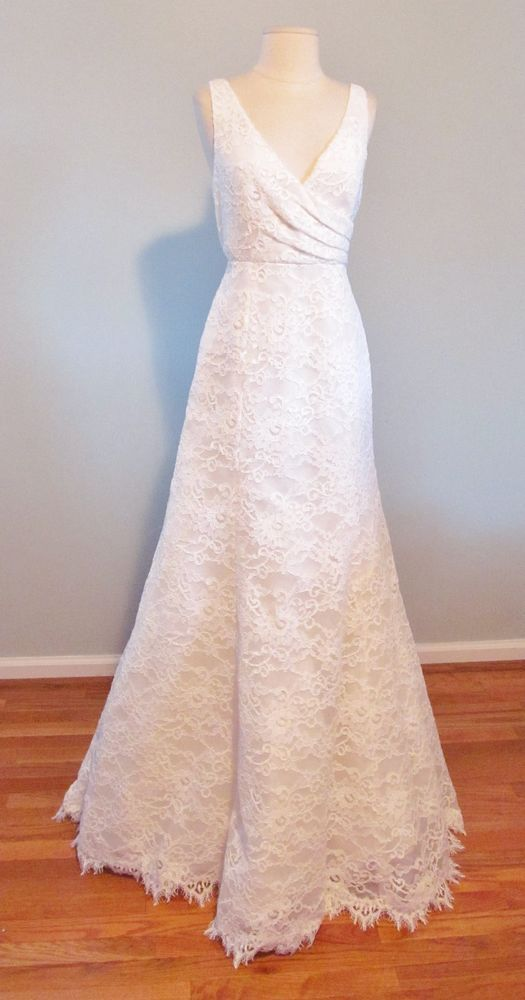 J crew sara lace gown size 4 ivory wedding gown so for Beautiful ivory wedding dresses