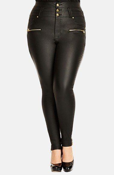 City Chic &39Pick Me Up&39 Stretch Skinny Jeans (Black) (Plus Size