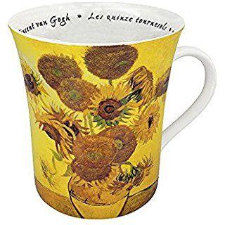 Mug Les fleurs chez lez peintres - van Gogh